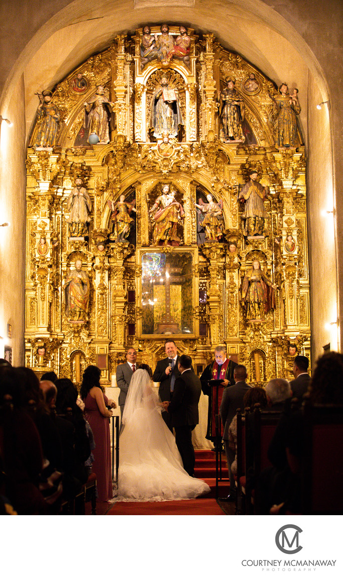 Wedding Ceremony at St. Francis of Assisi Chapel