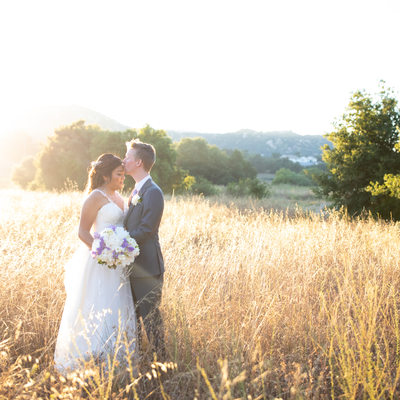 Sunset Wedding Portraits at Forever and Always Farm