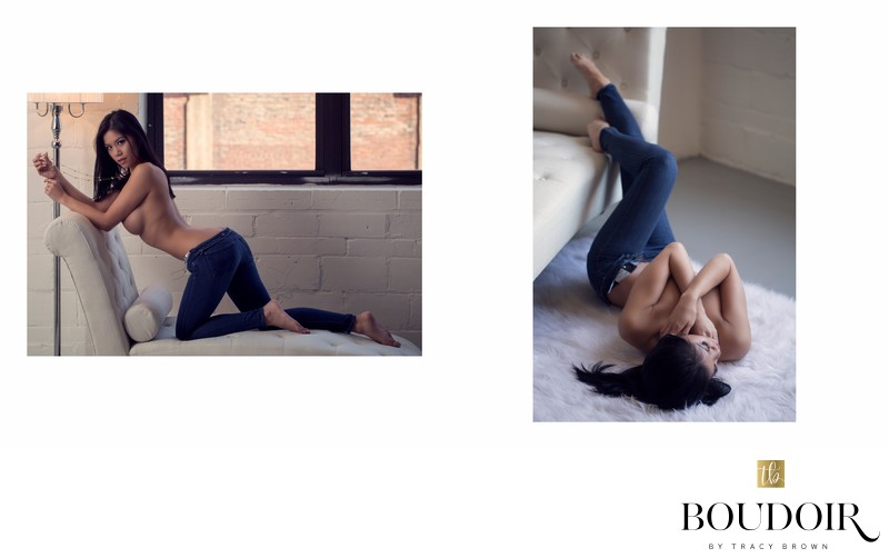 implied nude//jeans//boudoir by tracy brown//stl