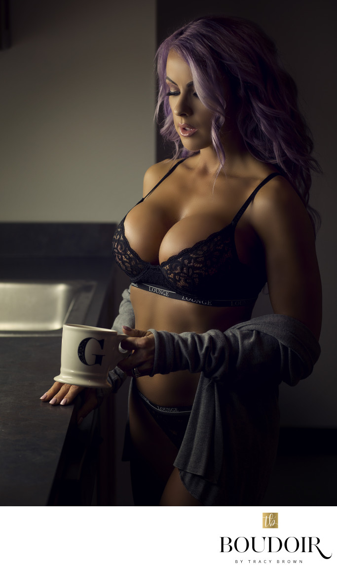Moody kitchen light in lounge underwear lingerie. STL