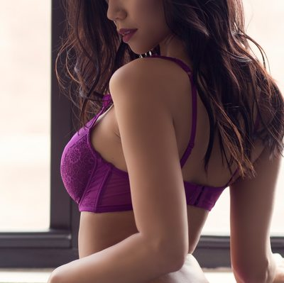 purple bra and panty set//boudoir by tracy brown//stl