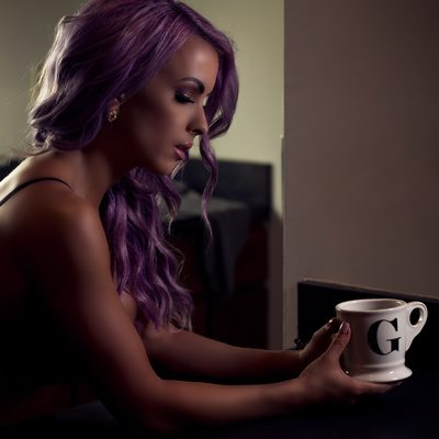 lavender hair and bodysuit//boudoir by tracy brown//stl