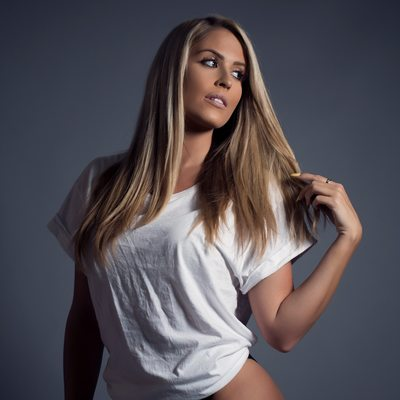 white tee/ studio lighting/ Boudoir photo/st louis, MO