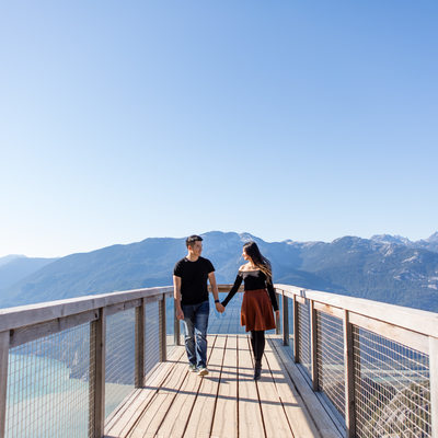 Sea to Sky Gondola Engagement Photographer