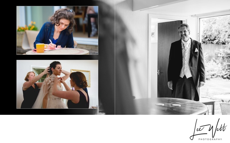 Worcestershire Wedding Photography Album Pages 3 & 4