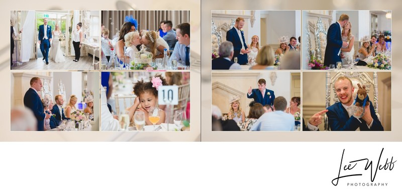 Manor by the Lake Wedding Album Pages 28 & 29