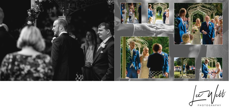 Manor by the Lake Wedding Album Pages 12 & 13