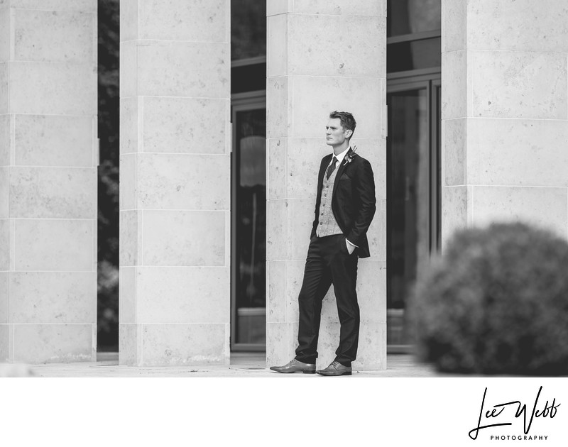 Stanbrook Abbey Groom Portrait