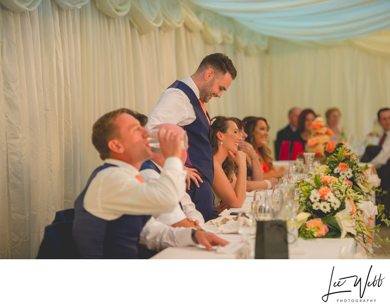 Grooms Speech Birtsmorton Court Wedding Venue Worcestershire