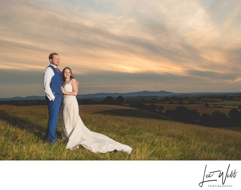Sunset Deer Park Hall Wedding Venue Worcestershire
