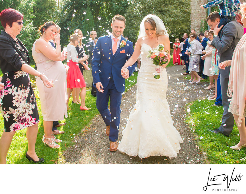Confetti Birtsmorton Court Weddings Worcestershire