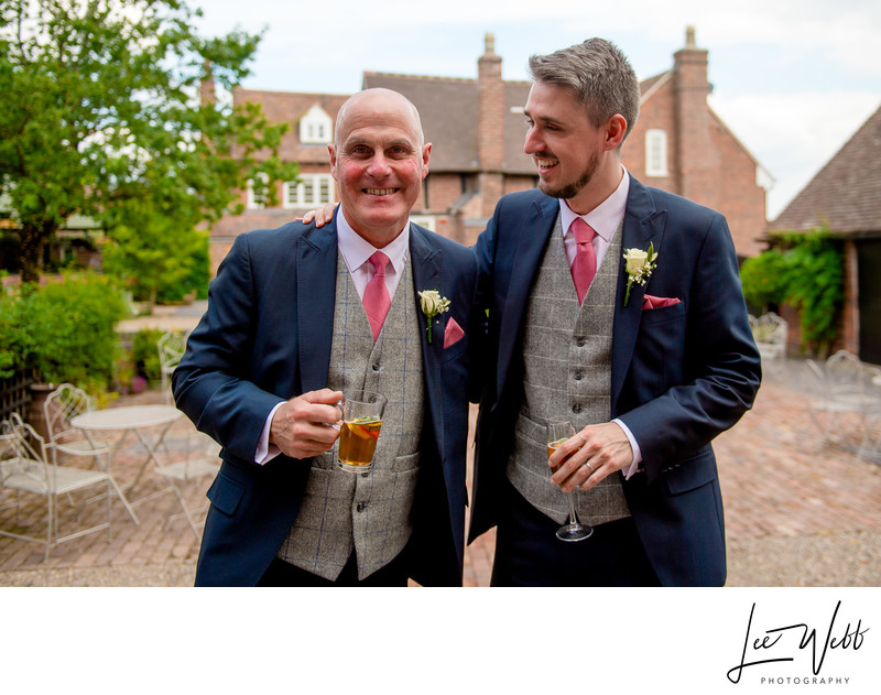 Curradine Barns Venue Worcestershire Groom Dad