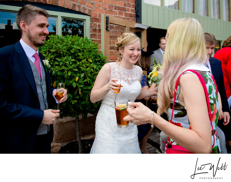 Drinks Reception Curradine Barns Wedding Photography