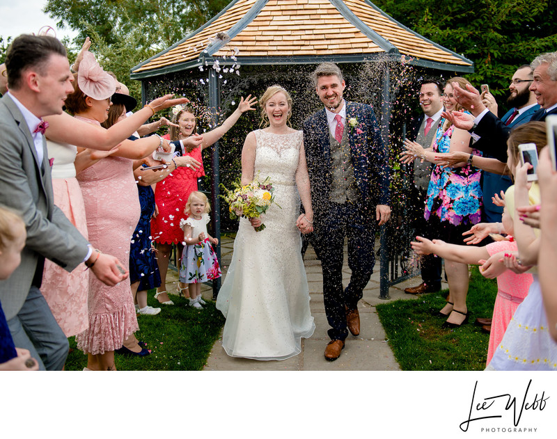 Curradine Barns Wedding Photography Confetti