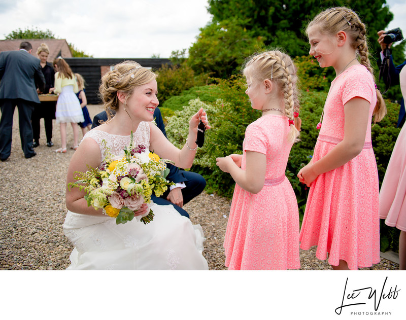 Flower Girls Curradine Barns Wedding Venue