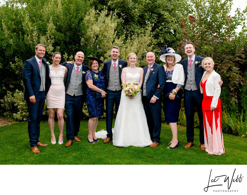 Curradine Barns Wedding Photography Group Photo