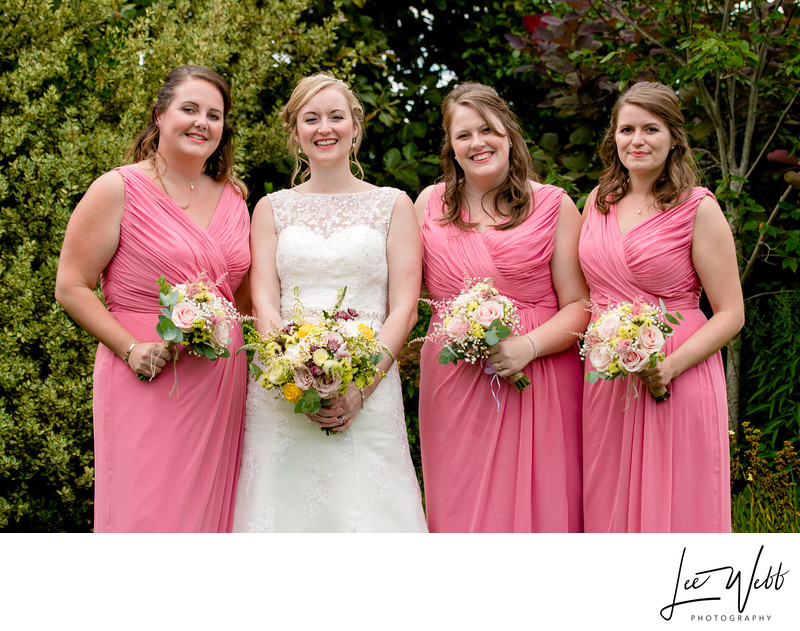 Bridal Party Curradine Barns Wedding Venue Worcester