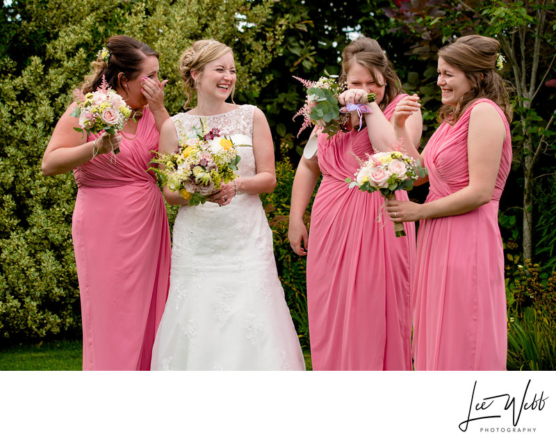 Bridesmaids Curradine Barns Wedding Venue Worcestershire