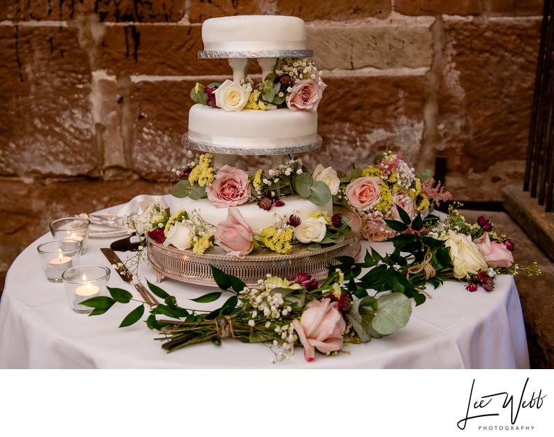 Curradine Barns Wedding Photography cake