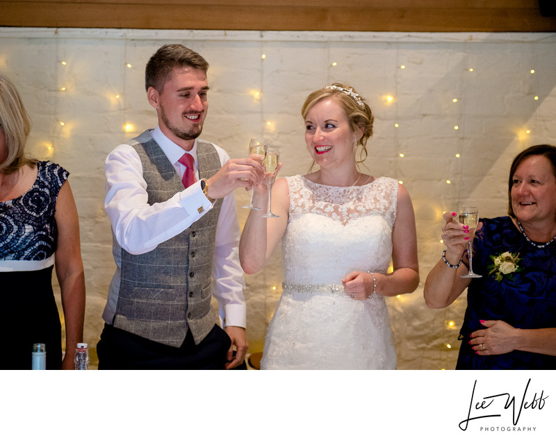 Toasts Curradine Barns Wedding Venue Worcestershire