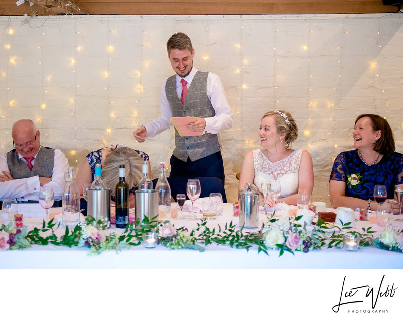 Speeches Curradine Barns Wedding Venue Worcester