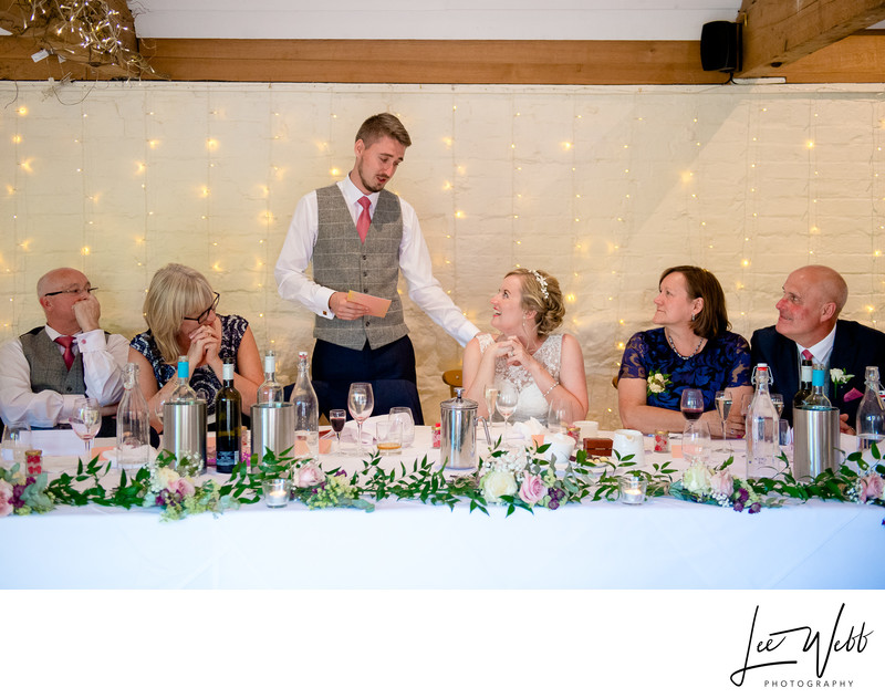 Curradine Barns Wedding Venue Grooms Speech