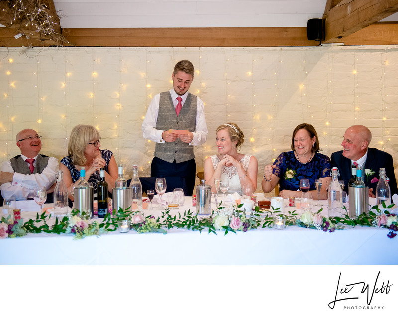 Speeches Curradine Barns Wedding Photography