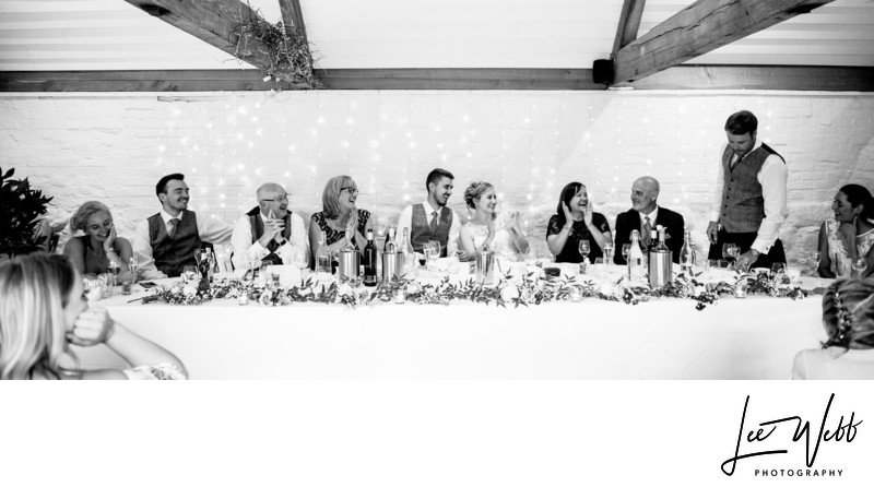 Top Table Curradine Barns Wedding Venue Worcestershire