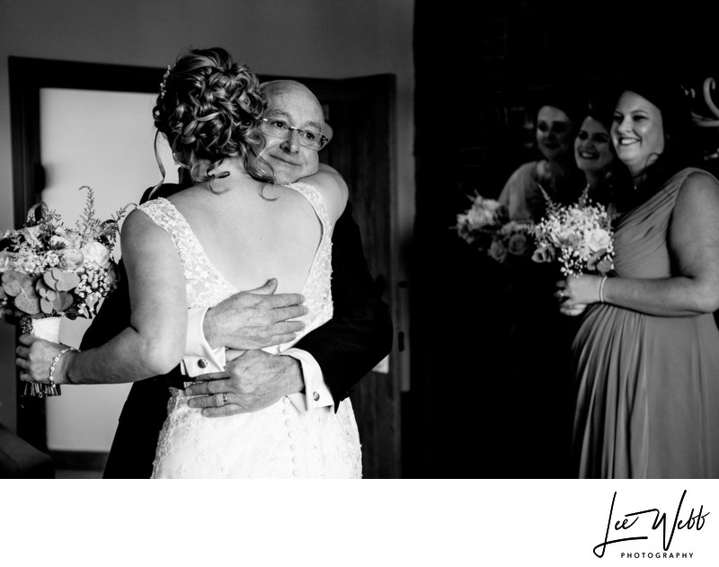 Curradine Barns Wedding Photography Father of Bride