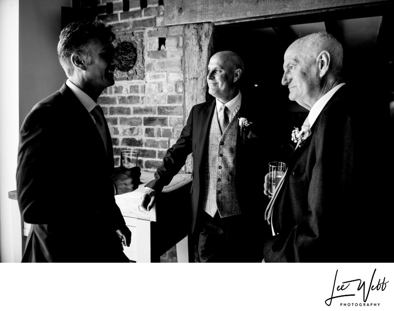 Groomsmen Curradine Barns Wedding Venue Worcestershire