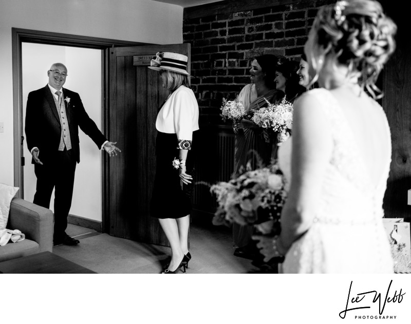 Curradine Barns Wedding Photography Brides Father