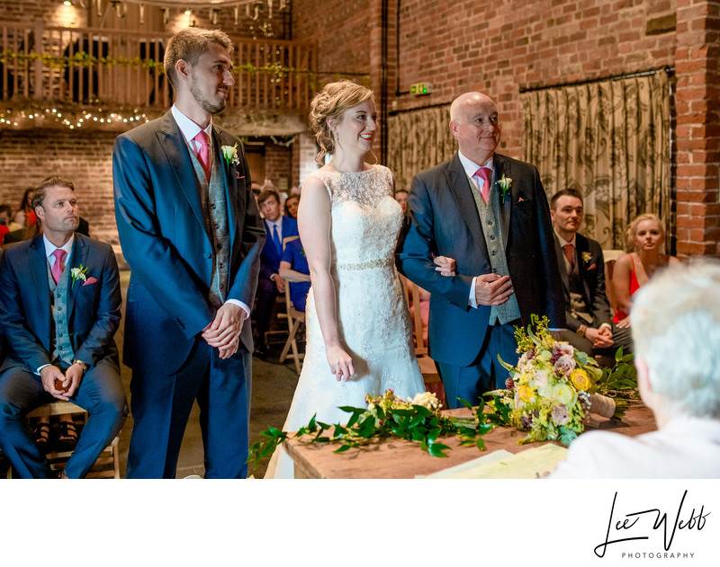 Wedding Ceremony Curradine Barns Wedding Photography