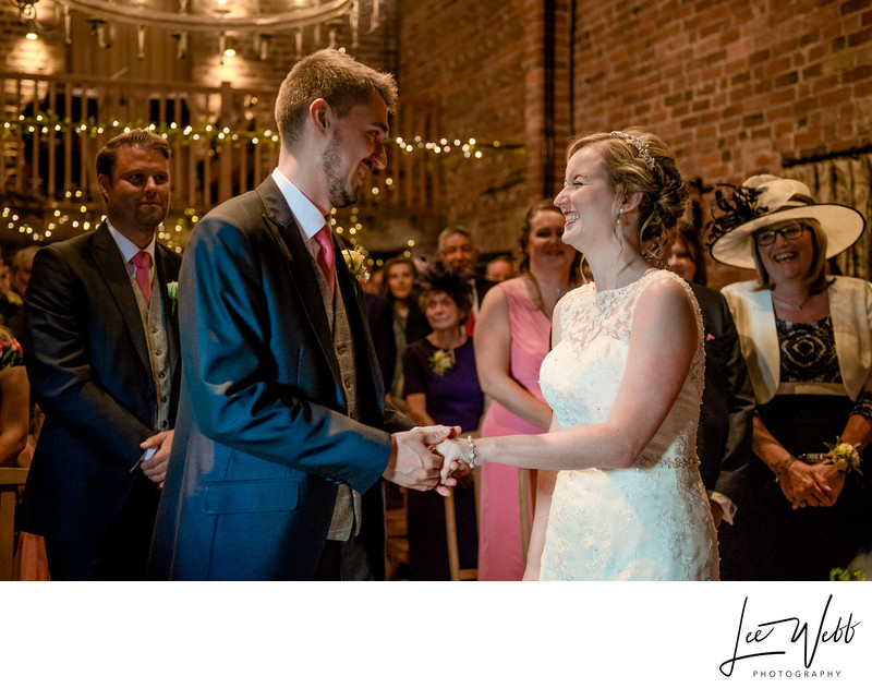 Smiling Bride Curradine Barns Wedding Venue Worcester