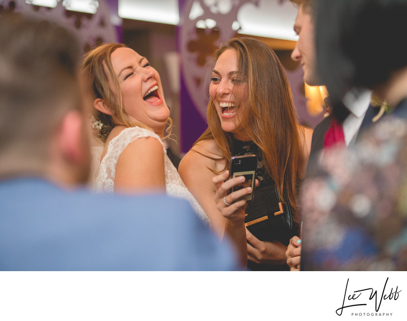 Stanbrook Abbey Wedding Photography Bride Laughing