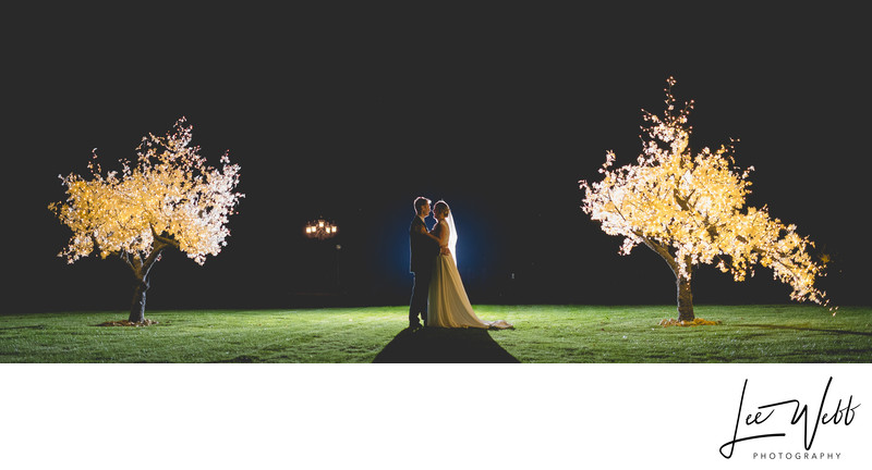 Stanbrook Abbey Wedding Photography Light Up Trees