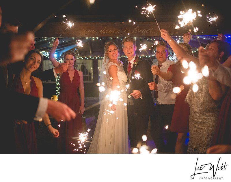 Stanbrook Abbey Wedding Photography Sparklers