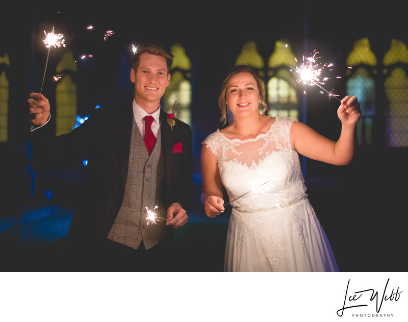 Sparklers Stanbrook Abbey Wedding Venue Worcestershire