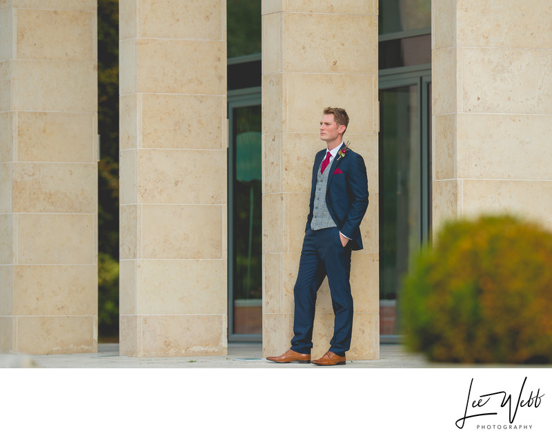 Stanbrook Abbey Wedding Photography Groom Photos