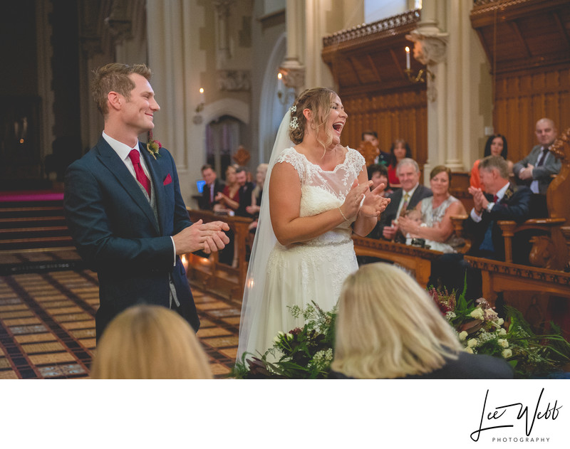 Wedding laughs Stanbrook Abbey Wedding Venue Worcester