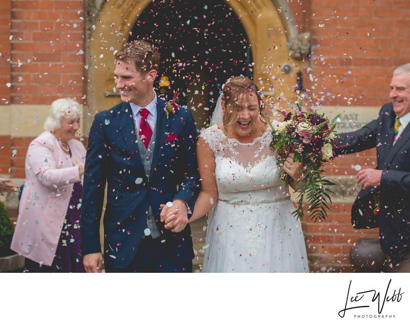 Confetti Photos Stanbrook Abbey Worcestershire