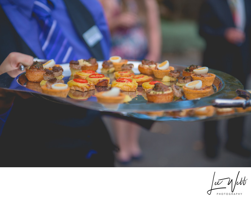 Canapes Stanbrook Abbey Wedding Venue Worcestershire