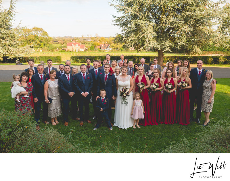 Group Photo Stanbrook Abbey Wedding Venue Worcester