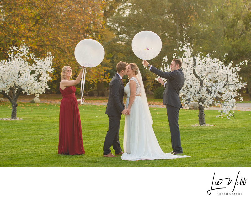 Confetti Balloon Stanbrook Abbey Worcestershire
