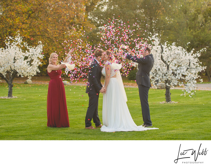 Confetti Photo Stanbrook Abbey Worcestershire