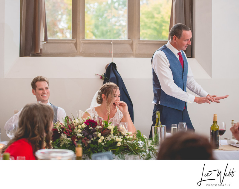 Father Of Bride Speech Stanbrook Abbey Worcestershire