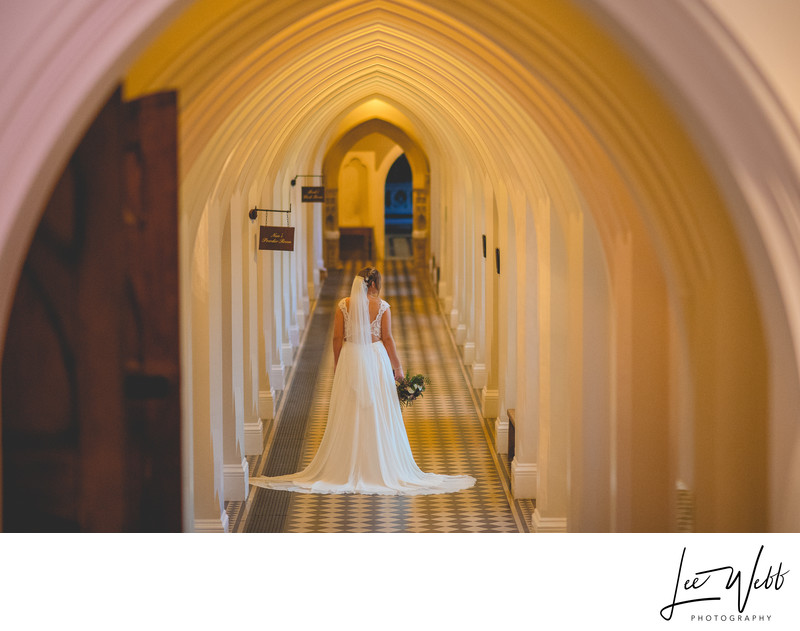 Stanbrook Abbey Wedding Photography Cloisters