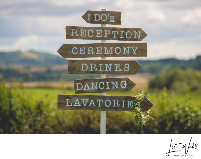 Wedding Sign Ideas Worcestershire Photography