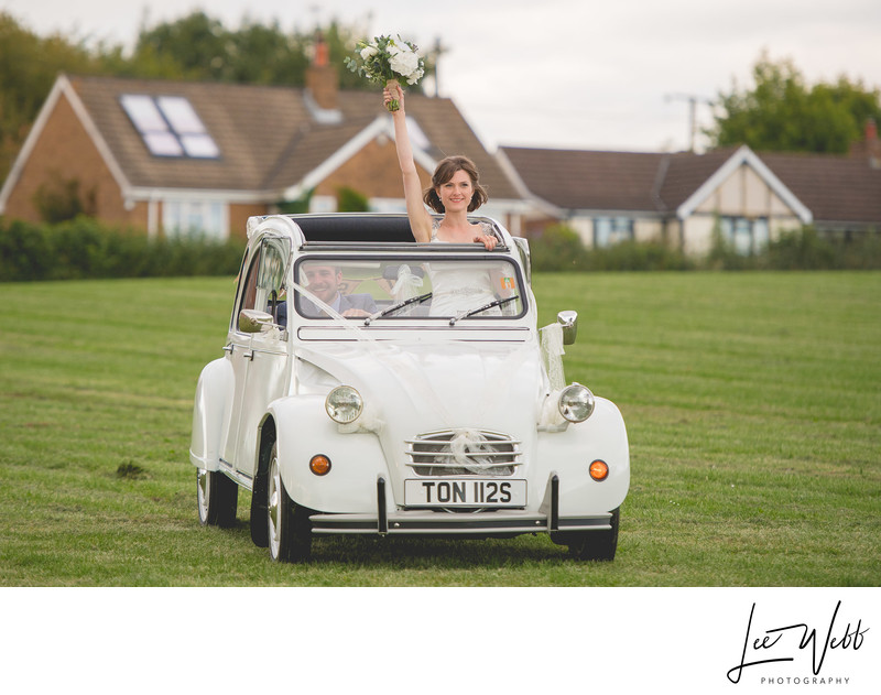 White Citroen 2CV Wedding Car