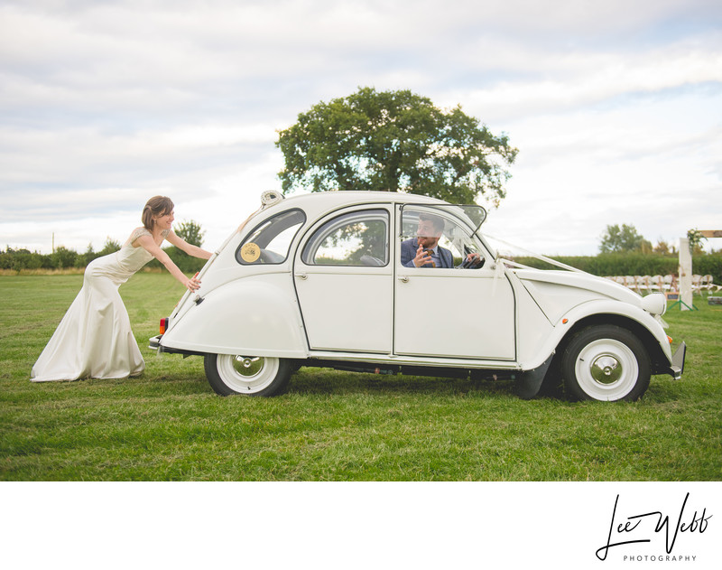 Funny Citroen 2CV Wedding Car