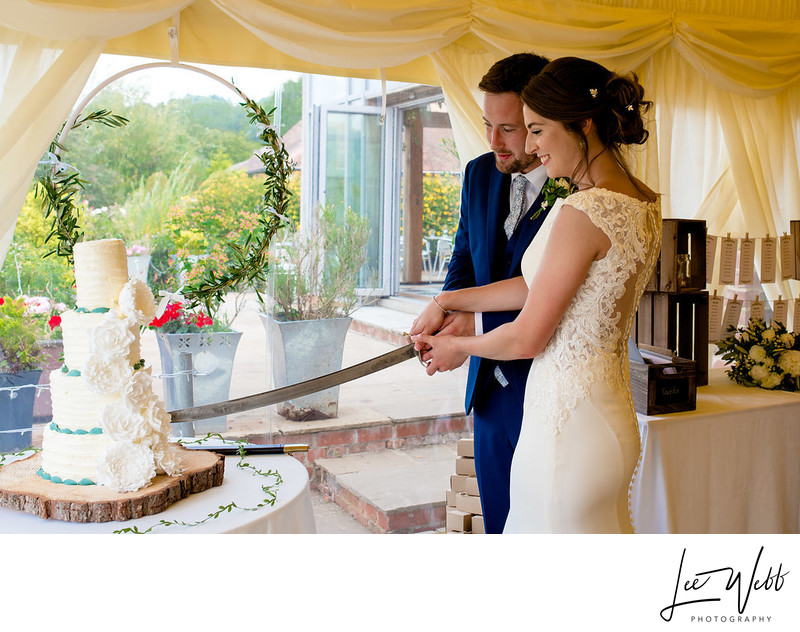 Old Castle Wedding Venue Colwall Cake Cutting